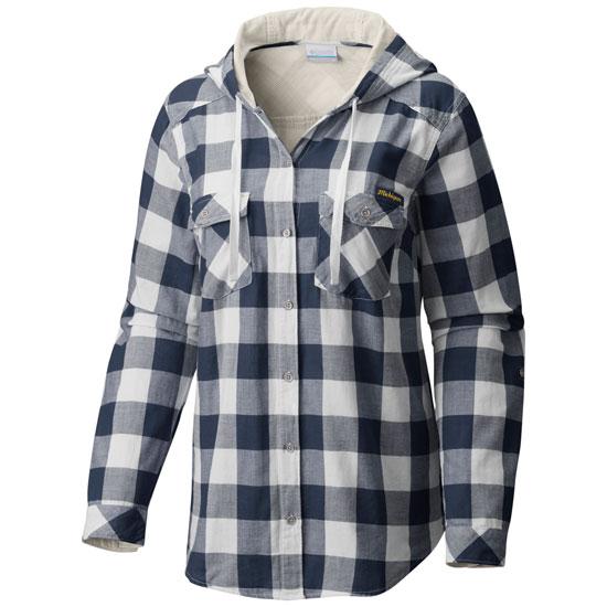 Columbia University of Michigan Women's ''Times Two'' Hooded Long Sleeve Shirt