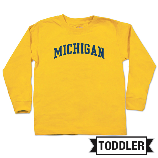 College Kids University of Michigan Toddler Yellow Long Sleeve Basic Tee