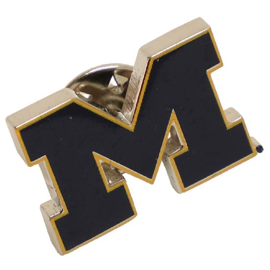 CSI University of Michigan Block ''M'' Lapel Pin