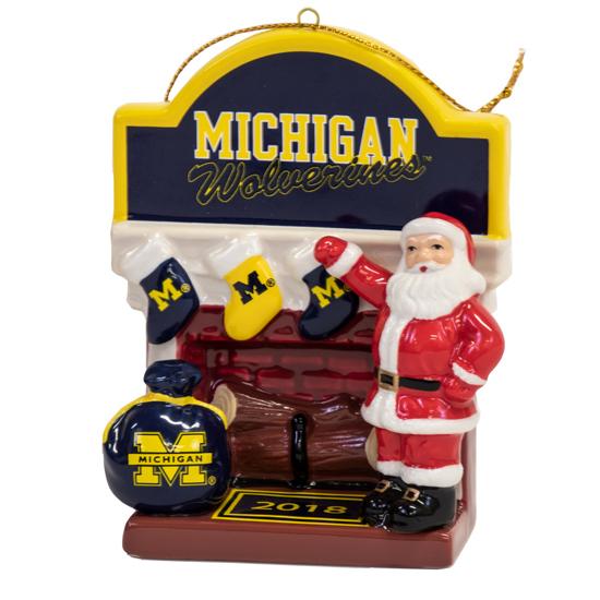 Danbury Mint University of Michigan 2018 Holiday Ornament