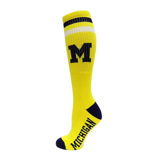 Donegal Bay University of Michigan Yellow Knee High Tube Socks