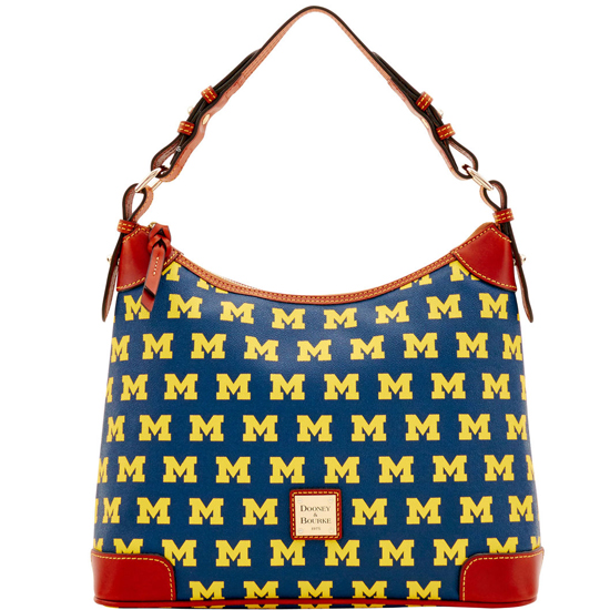 Dooney & Bourke University of Michigan Hobo Style Shoulder Bag