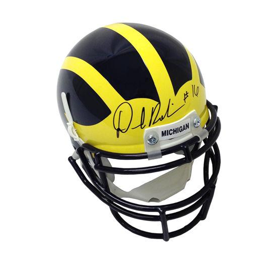University of Michigan Football Denard Robinson Signed Mini Replica Helmet