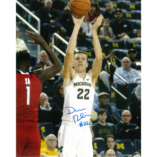 University of Michigan Basketball Duncan Robinson Autographed 8 x 10 Picture