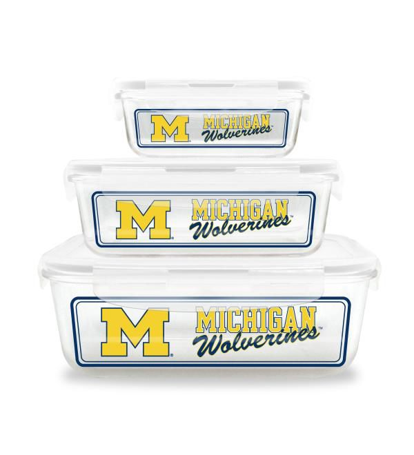 Duckhouse University of Michigan Glass Storage Bowl Set