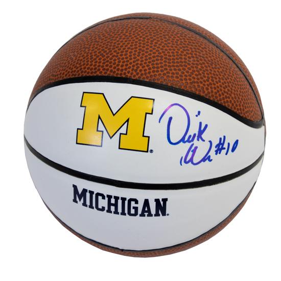 University of Michigan Basketball Derrick Walton Jr. Autographed Mini Basketball