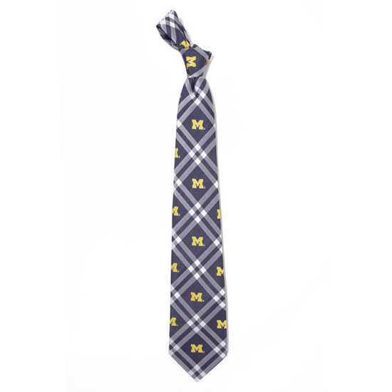 Eagles Wings University of Michigan Woven Poly Rhodes Tie