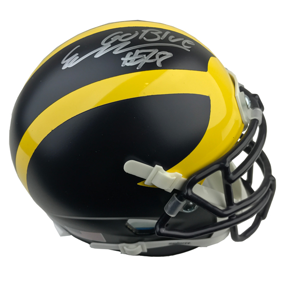 University of Michigan Football Erik Magnuson Autographed Mini Helmet