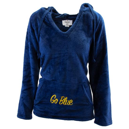 Emerson Street University of Michigan Women's Navy Plush ''Go Blue'' Hooded Sweatshirt