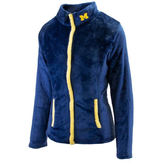 Emerson Street University of Michigan Women's ''Chloe'' Plush Full Zip Jacket