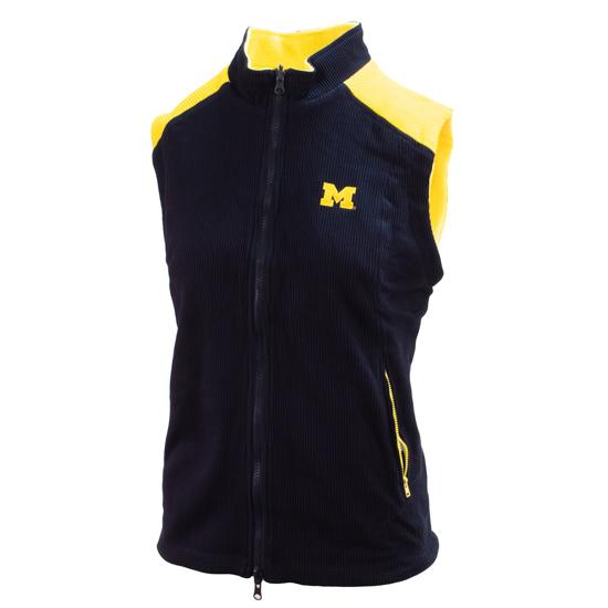 Emerson Street University of Michigan Women's Navy and Yellow ''Josie'' Reversible Vest