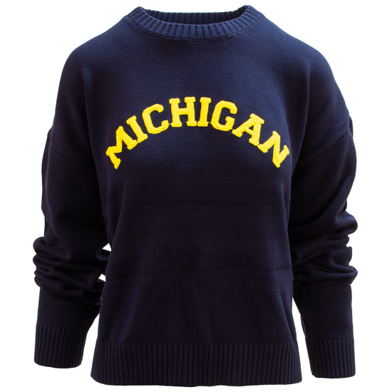 Emerson Street Clothing Co. University of Michigan Women's Navy Darby Sweater