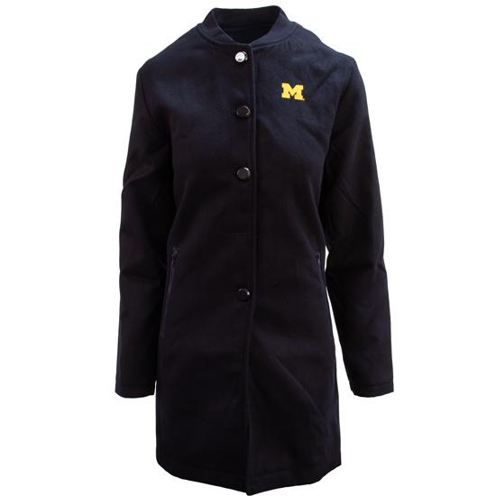 Emerson Street Clothing Co. University of Michigan Women's Navy Hudson Jacket