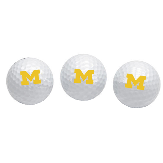 Team Golf University of Michigan Set of Three Golf Balls