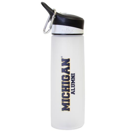 Fanatic University of Michigan Alumni 24 oz. Frosted Sports Bottle