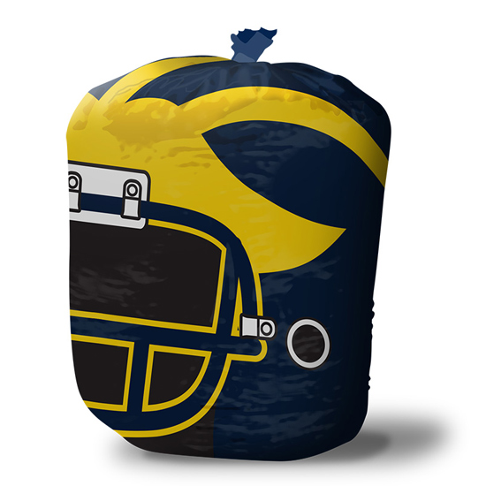 Stuff-A-Helmet University of Michigan Football Helmet Lawn & Leaf Bag