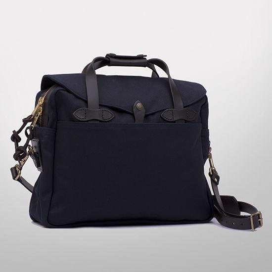 Filson Navy Rugged Twill Briefcase Computer Bag