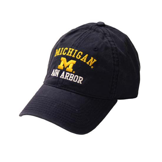 The Game University of Michigan Washed Navy Ann Arbor Relaxed Hat