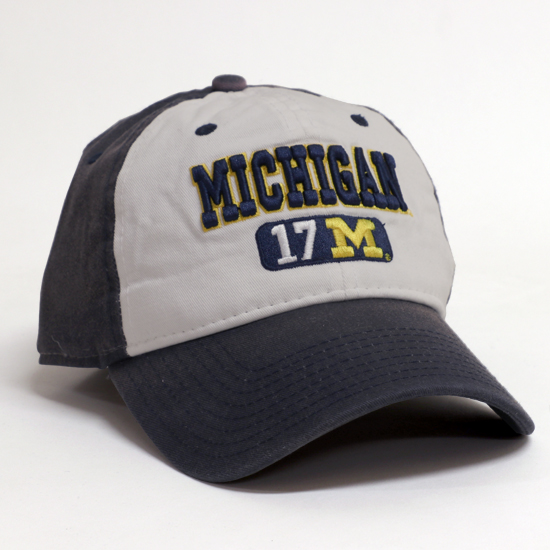 The Game University of Michigan Navy/White Weekender Graph Slouch Hat