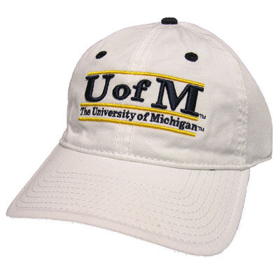 Game University of Michigan White Bar Slouch Hat