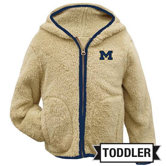 Garb University of Michigan Toddler Sherpa Full Zip Hooded Jacket