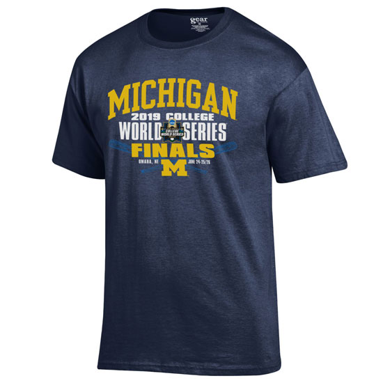 4b022fe9f Gear University of Michigan Baseball College World Series Finals Tee