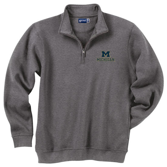 Gear University of Michigan Charcoal Gray 1/4 Zip Sweatshirt