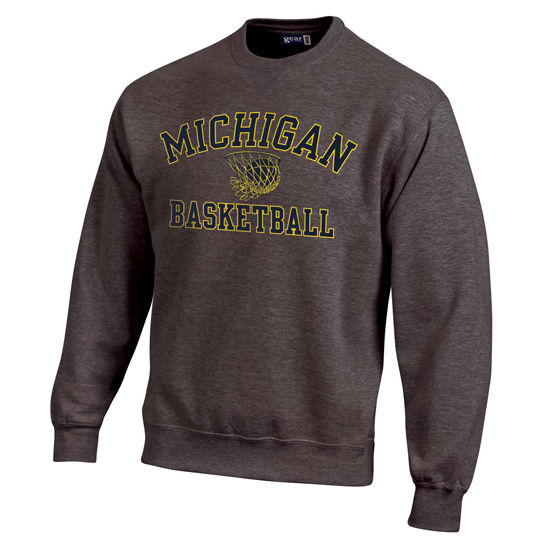 Gear University of Michigan Basketball Granite Crewneck Sweatshirt