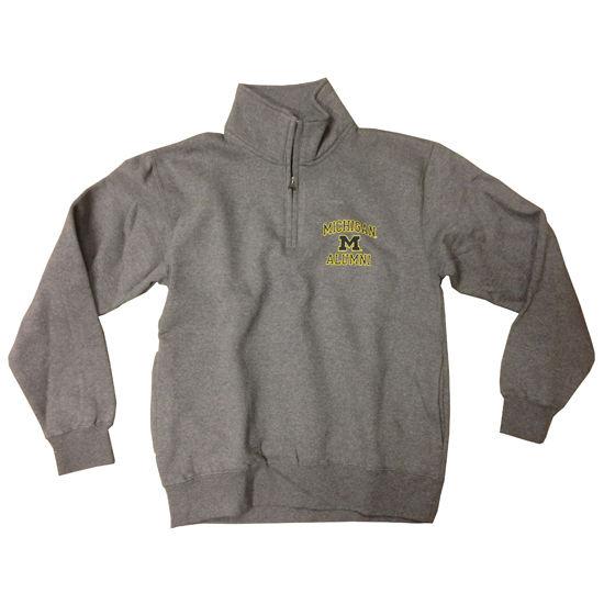 Gear University of Michigan Alumni Granite 1/4 Zip Sweatshirt