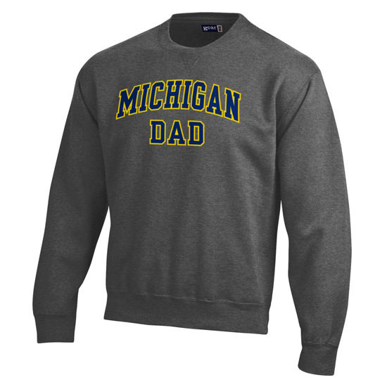 Gear University of Michigan Dad Granite Crewneck Sweatshirt