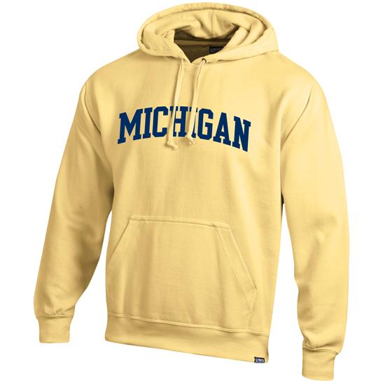 Gear University of Michigan Butter Yellow Basic Hooded Sweatshirt