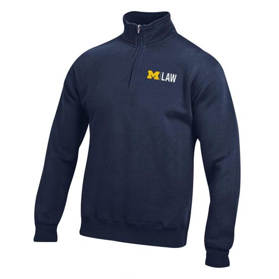 Gear University of Michigan Law School Navy 1/4 Zip Pullover Sweatshirt