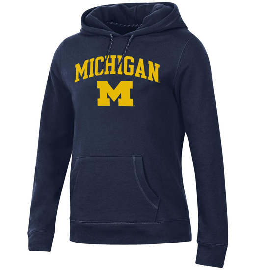 Gear University of Michigan Women's Navy Relaxed Hooded Sweatshirt