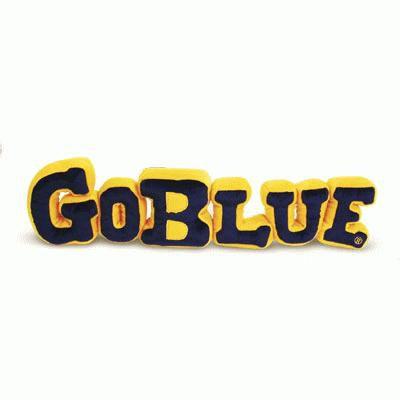 Herrington University of Michigan Plush Go Blue Pillow