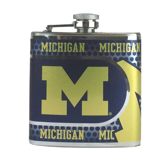 Great American Products University of Michigan Stainless Steel Wrap Flask