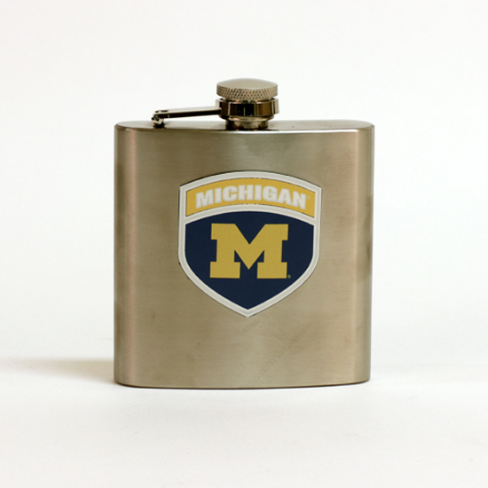 Great American Products University of Michigan Flask with Pewter Emblem