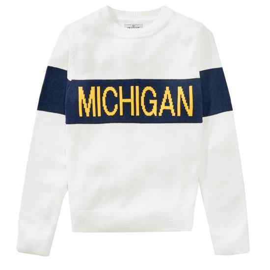 Hillflint University of Michigan Women's Retro Stripe Heritage Sweater
