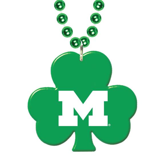 Jardine University of Michigan St. Patrick's Day Shamrock Beaded Necklace