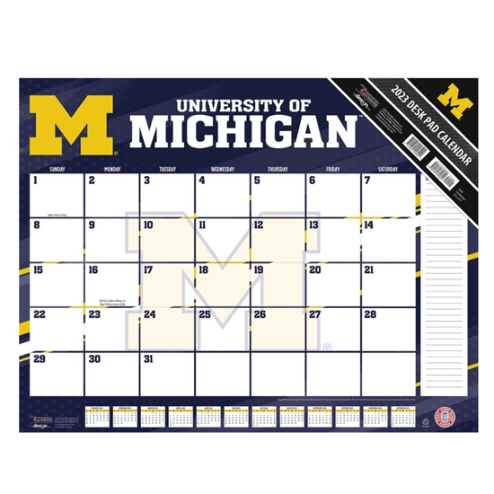 TF Publishing University of Michigan 2021 Desk Calendar