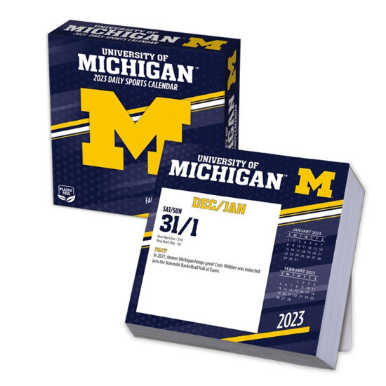Turner University of Michigan 2021 Day-By-Day Box Calendar