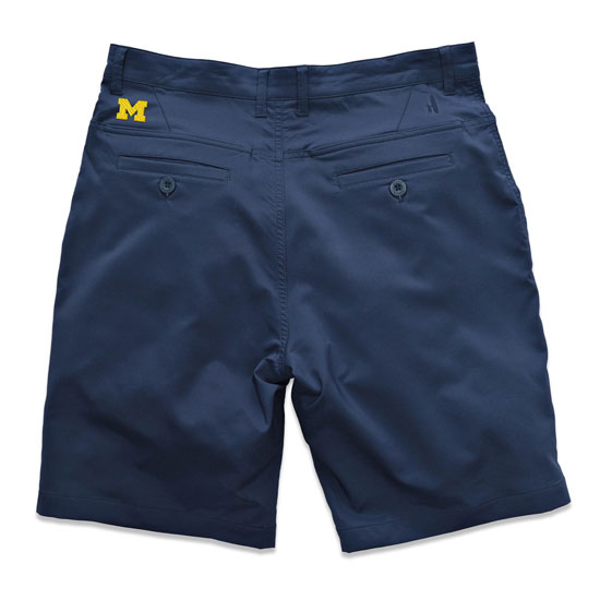 Johnnie-O University of Michigan Pacific Blue Mulligan Prep-Formance Shorts