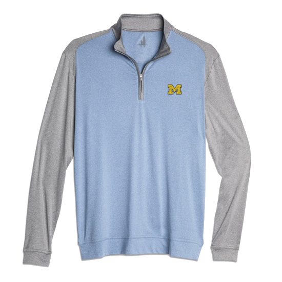 Johnnie-O University of Michigan Sway Prep-Formance 1/4 Zip Pullover