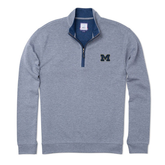 Johnnie-O University of Michigan Meteor Sully 1/4 Zip Pullover