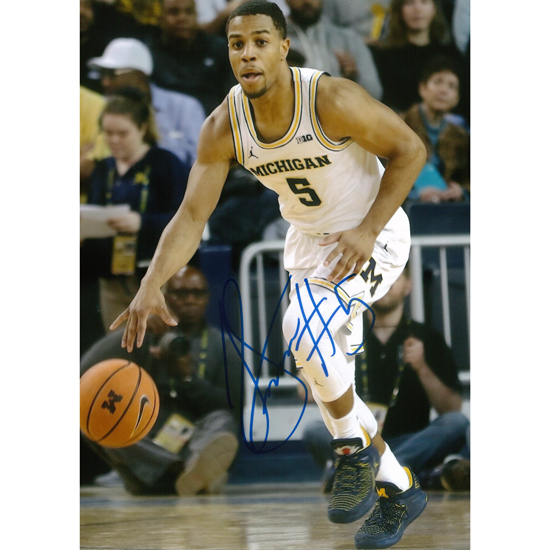 University of Michigan Basketball Jaaron Simmons Autographed 8 x 10 Picture