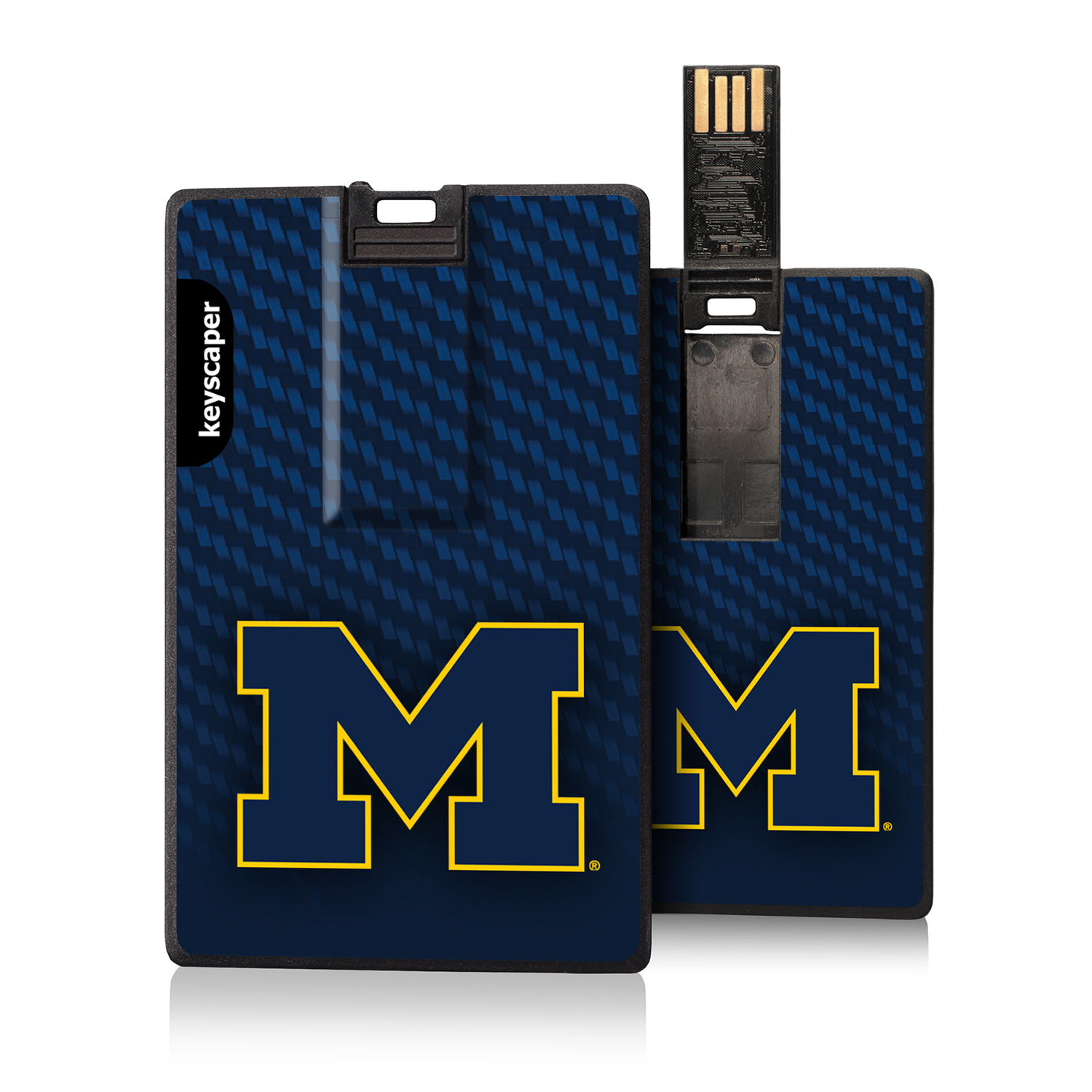 Keyscaper University of Michigan 8GB Credit Card Style USB Flash Drive
