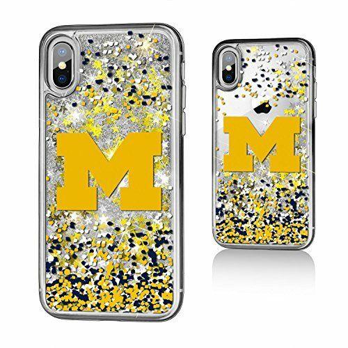Keyscaper University of Michigan Apple iPhone X Glitter Series Case