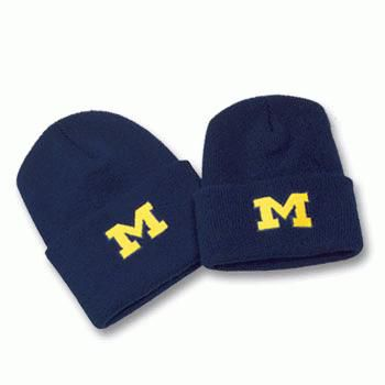 LogoFit University of Michigan Youth Navy Cuffed Knit Hat