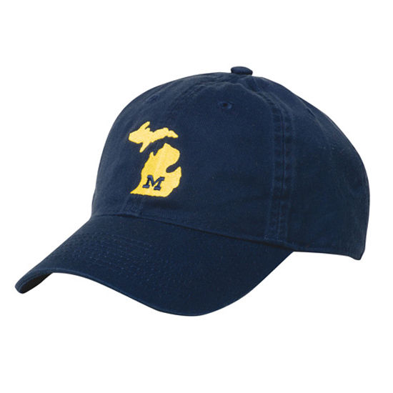 Legacy University of Michigan Navy State of Michigan Slouch Hat