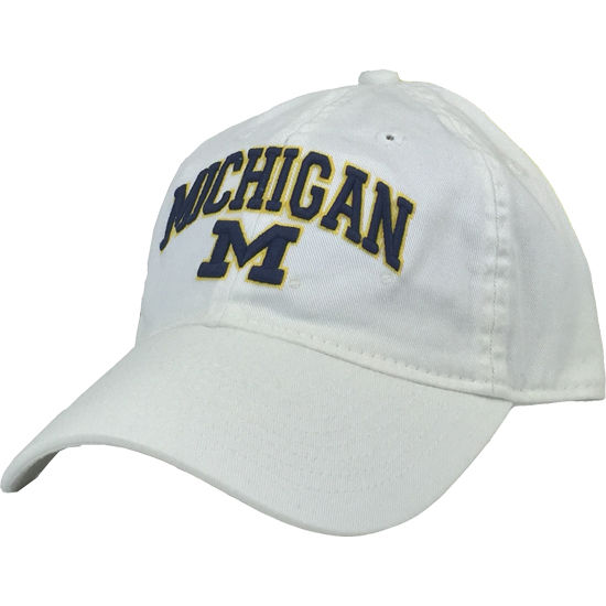 Legacy University of Michigan White Relaxed Twill Slouch Hat