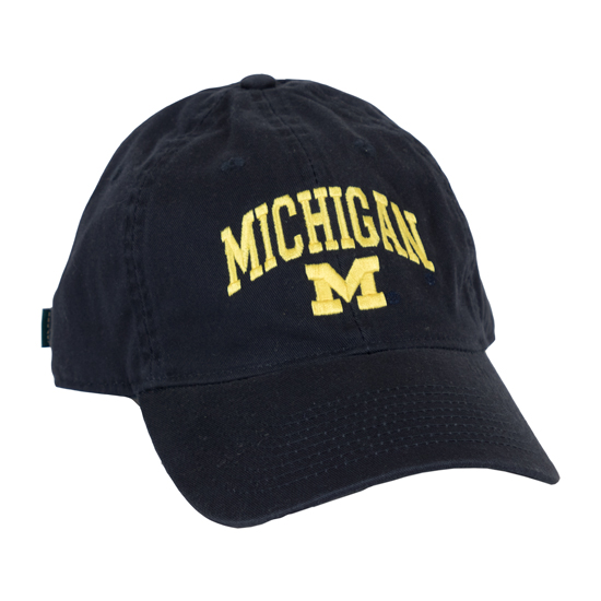 Legacy University of Michigan Navy Relaxed Twill Slouch Hat